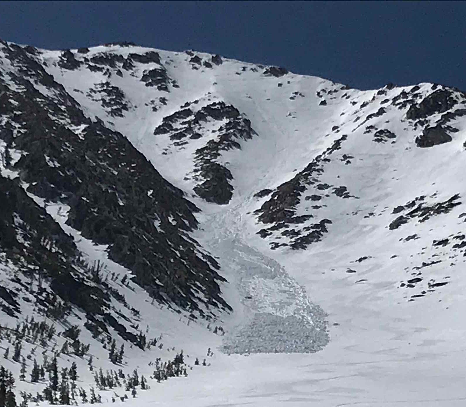 Loose wet avalanche on Jobs Peak from 4/25 or 4/26