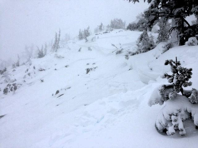 "Overview of the upper <a href=""https://www.sierraavalanchecenter.org/avalanche-terms/starting-zone"" title=""The portion of an avalanche path where an avalanche releases."" class=""lexicon-term"">starting zone</a>"