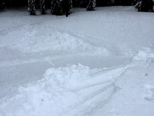 "The small <a href=""https://www.sierraavalanchecenter.org/avalanche-terms/avalanche"" title=""A mass of snow sliding, tumbling, or flowing down an inclined surface."" class=""lexicon-term"">avalanche</a> in which skier was caught."