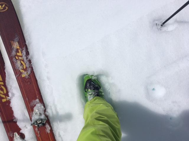 """Slightly increase depth of wet snow at noon on SE <a href=""""https://www.sierraavalanchecenter.org/avalanche-terms/aspect"""" title=""""The compass direction a slope faces (i.e. North, South, East, or West.)"""" class=""""lexicon-term"""">aspect</a> above 8,000', but still very supportable."""