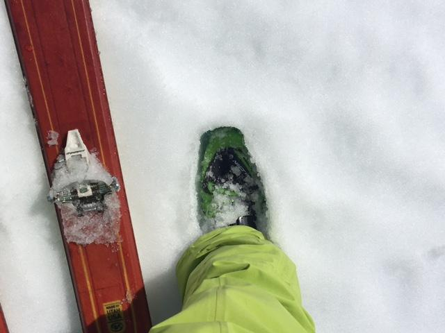 "Boot pen of 4-6'' at 8200', S <a href=""https://www.sierraavalanchecenter.org/avalanche-terms/aspect"" title=""The compass direction a slope faces (i.e. North, South, East, or West.)"" class=""lexicon-term"">aspect</a>, at 11:30am."
