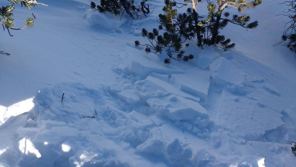 "Small <a href=""https://www.sierraavalanchecenter.org/avalanche-terms/wind-slab"" title=""A cohesive layer of snow formed when wind deposits snow onto leeward terrain. Wind slabs are often smooth and rounded and sometimes sound hollow."" class=""lexicon-term"">wind slabs</a> failed easily on test slopes. N <a href=""https://www.sierraavalanchecenter.org/avalanche-terms/aspect"" title=""The compass direction a slope faces (i.e. North, South, East, or West.)"" class=""lexicon-term"">aspect</a> ~9,100'."
