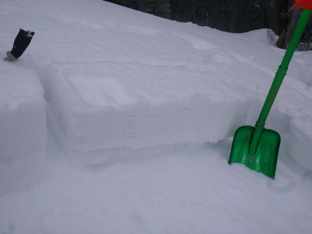 "ECTP in an area where the loose weak snow had a small <a href=""https://www.sierraavalanchecenter.org/avalanche-terms/slab"" title=""A relatively cohesive snowpack layer."" class=""lexicon-term"">slab</a> on top of it prior to last night's storm."