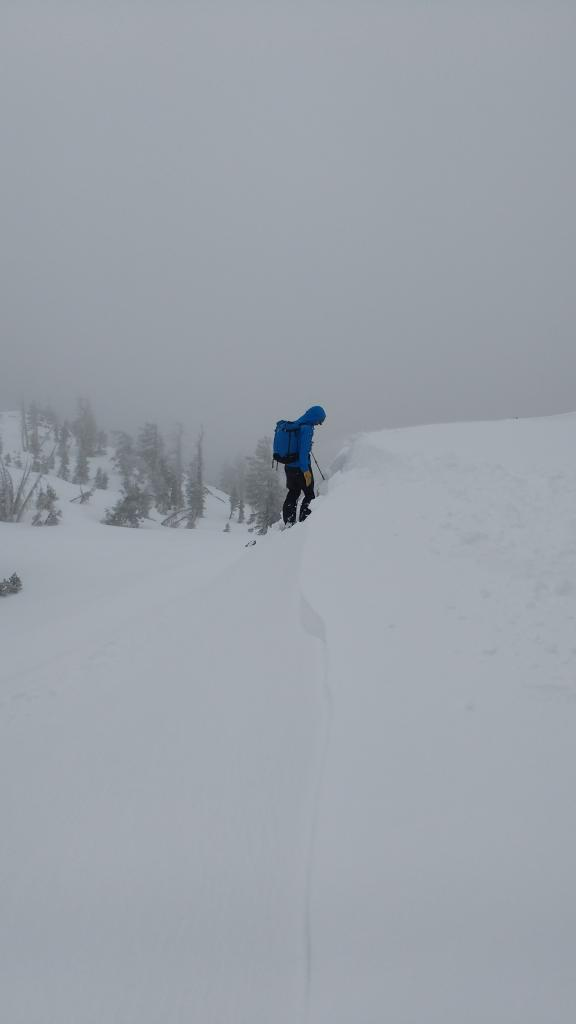 "Ski cutting on <a href=""https://www.sierraavalanchecenter.org/avalanche-terms/wind-slab"" title=""A cohesive layer of snow formed when wind deposits snow onto leeward terrain. Wind slabs are often smooth and rounded and sometimes sound hollow."" class=""lexicon-term"">wind slab</a> test slopes produced either very minor or no results."