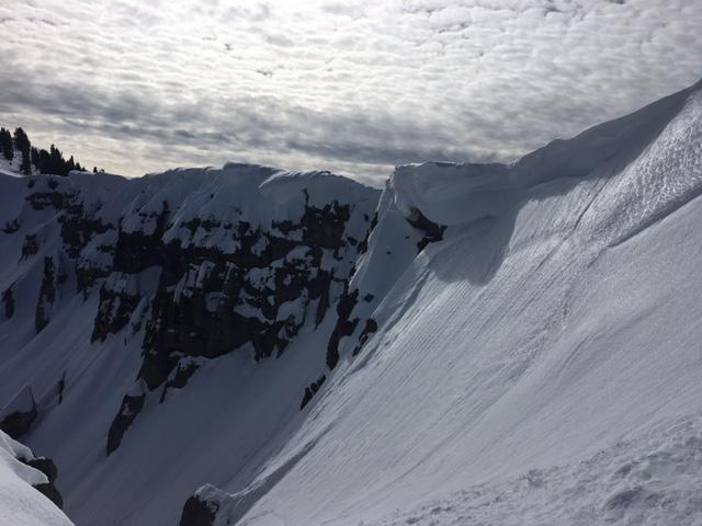 Large cornices exist along the Castle/Basin Ridgeline.