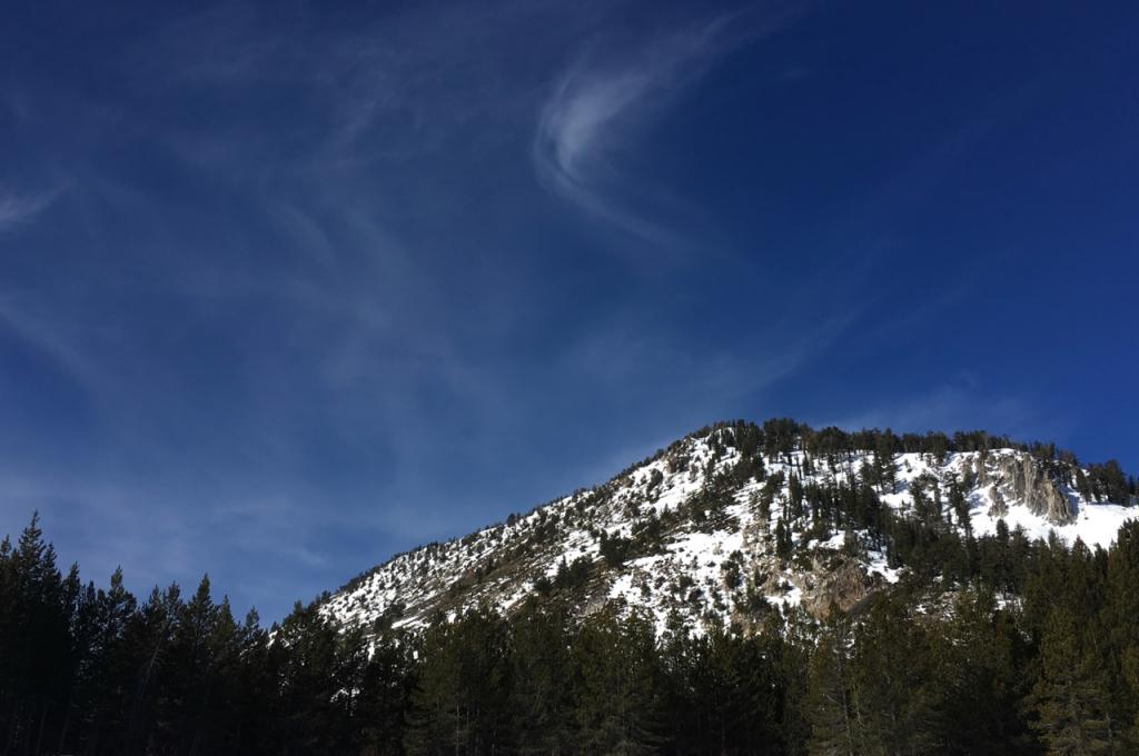 South east face of Incline Peak.