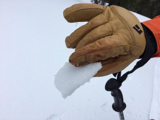 "Thin <a href=""https://www.sierraavalanchecenter.org/avalanche-terms/rain-crust"" title=""A clear layer of ice formed when rain falls on the snow surface then freezes."" class=""lexicon-term"">rain crust</a> up to 9200' in this area."