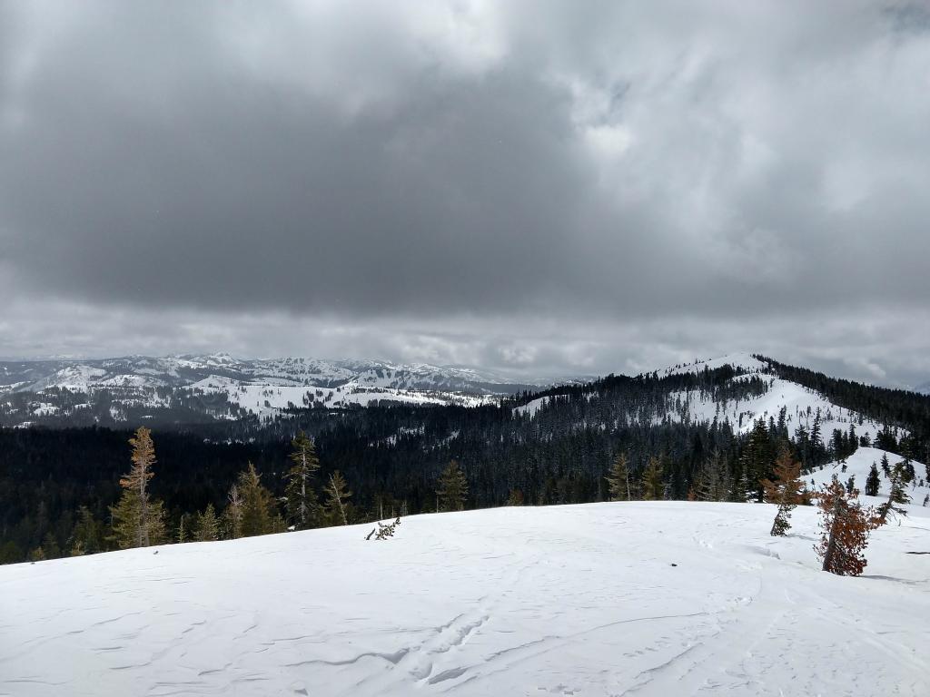 Increasing clouds across the Sierra Crest around noon