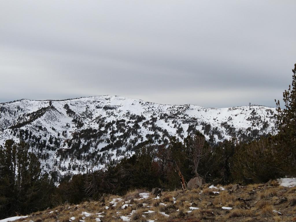 Looking across at Relay Peak.