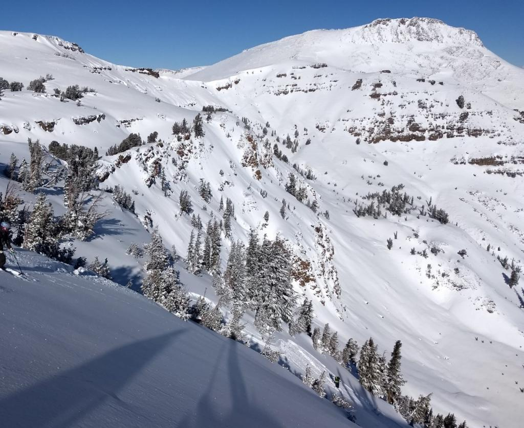 "Just before the <a href=""https://www.sierraavalanchecenter.org/avalanche-terms/avalanche"" title=""A mass of snow sliding, tumbling, or flowing down an inclined surface."" class=""lexicon-term"">avalanche</a> was <a href=""https://www.sierraavalanchecenter.org/avalanche-terms/trigger"" title=""A disturbance that initiates fracture within the weak layer causing an avalanche. In 90 percent of avalanche accidents, the victim or someone in the victims party triggers the avalanche."" class=""lexicon-term"">triggered</a>. The skier that <a href=""https://www.sierraavalanchecenter.org/avalanche-terms/trigger"" title=""A disturbance that initiates fracture within the weak layer causing an avalanche. In 90 percent of avalanche accidents, the victim or someone in the victims party triggers the avalanche."" class=""lexicon-term"">triggered</a> it just did a <a href=""https://www.sierraavalanchecenter.org/avalanche-terms/ski-cut"" title=""A stability test where a skier, rider or snowmobiler rapidly crosses an avalanche starting zone to see if an avalanche initiates. Slope cuts can be dangerous and should only be performed by experienced people on small avalanche paths or test slopes."" class=""lexicon-term"">ski cut</a> and then a few more turns with no reaction other than loose <a href=""https://www.sierraavalanchecenter.org/avalanche-terms/loose-snow-avalanche"" title=""An avalanche that releases from a point and spreads downhill collecting more snow - different from a slab avalanche. Also called a point-release or sluff."" class=""lexicon-term"">sluff</a>. The <a href=""https://www.sierraavalanchecenter.org/avalanche-terms/avalanche"" title=""A mass of snow sliding, tumbling, or flowing down an inclined surface."" class=""lexicon-term"">avalanche</a> would be <a href=""https://www.sierraavalanchecenter.org/avalanche-terms/trigger"" title=""A disturbance that initiates fracture within the weak layer causing an avalanche. In 90 percent of avalanche accidents, the victim or someone in the victims party triggers the avalanche."" class=""lexicon-term"">triggered</a> on the next 1 or 2 turns."