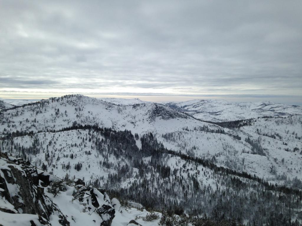 Looking west into desolation