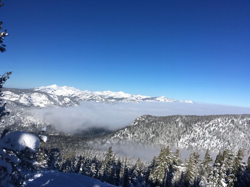 Above the inversion.