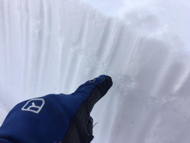 "<a href=""https://www.sierraavalanchecenter.org/avalanche-terms/surface-hoar"" title=""Featherly crystals that form on the snow surface during clear and calm conditions - essentially frozen dew. Forms a persistent weak layer once buried."" class=""lexicon-term"">Surface hoar</a> failing on an artificially <a href=""https://www.sierraavalanchecenter.org/avalanche-terms/loading"" title=""The addition of weight on top of a snowpack, usually from precipitation, wind drifting, or a person."" class=""lexicon-term"">loaded</a> PST."
