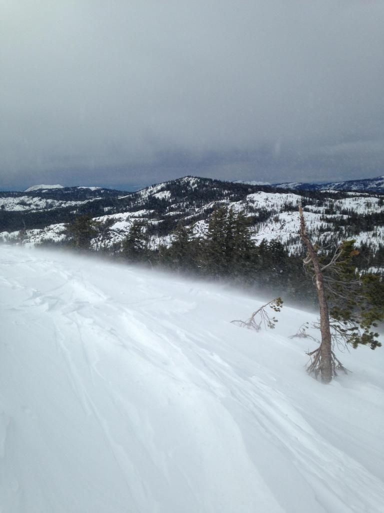 Wind Transport on Castle Ridge