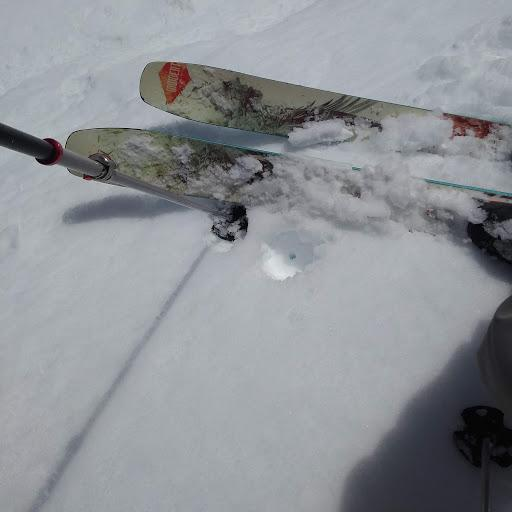 """On southerly <a href=""""https://www.sierraavalanchecenter.org/avalanche-terms/aspect"""" title=""""The compass direction a slope faces (i.e. North, South, East, or West.)"""" class=""""lexicon-term"""">aspects</a>, 3-4'' of wet snow existed above a supportable snow surface."""