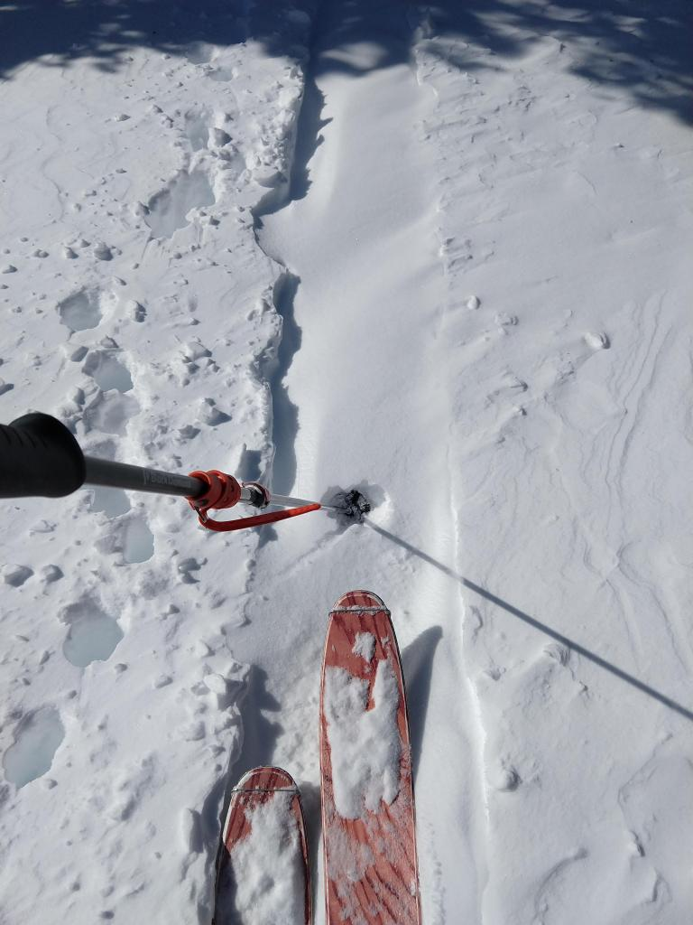 "Our <a href=""https://www.sierraavalanchecenter.org/avalanche-terms/skin-track"" title=""Backcountry skiers and some snowboarders ascend slopes using climbing skins attached to the bottom of their skis."" class=""lexicon-term"">skin track</a> refilled quickly with <a href=""https://www.sierraavalanchecenter.org/avalanche-terms/wind-loading"" title=""The added weight of wind drifted snow."" class=""lexicon-term"">wind loading</a>."