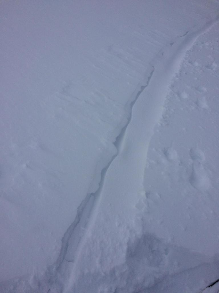 """Ski <a href=""""https://www.sierraavalanchecenter.org/avalanche-terms/track"""" title=""""The portion of an avalanche path between the starting zone and the runout zone."""" class=""""lexicon-term"""">track</a> refilling from wind transport after 90 minutes."""