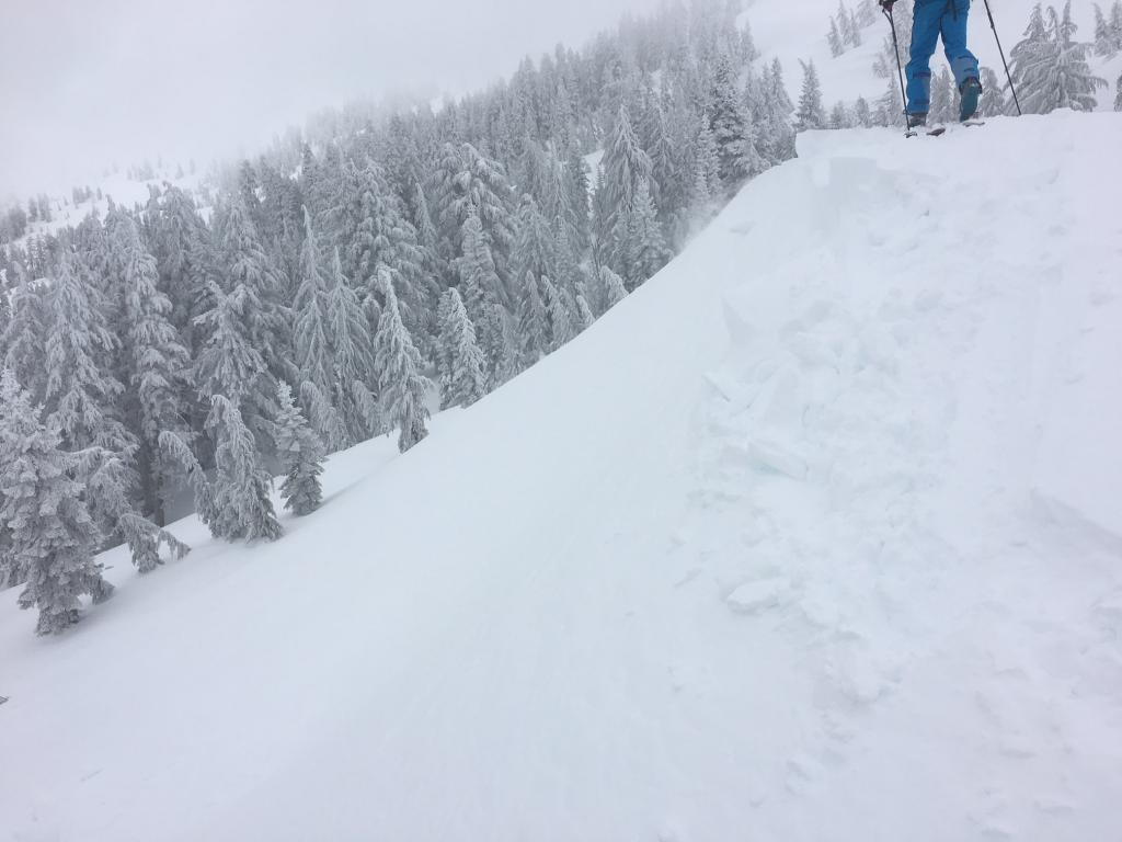 Small cornices breaking with much force