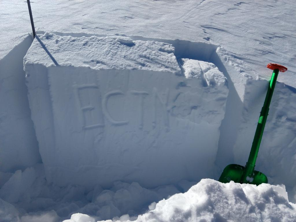 "ECTN on <a href=""/avalanche-terms/wind-slab"" title=""A cohesive layer of snow formed when wind deposits snow onto leeward terrain. Wind slabs are often smooth and rounded and sometimes sound hollow."" class=""lexicon-term"">wind slab</a>. NE <a href=""/avalanche-terms/aspect"" title=""The compass direction a slope faces (i.e. North, South, East, or West.)"" class=""lexicon-term"">aspect</a>, above treeline terrain. P <a href=""/avalanche-terms/hard-slab-avalanche"" title=""A slab avalanche of hard, dense snow."" class=""lexicon-term"">hard slab</a> over 1F hard older rounds."