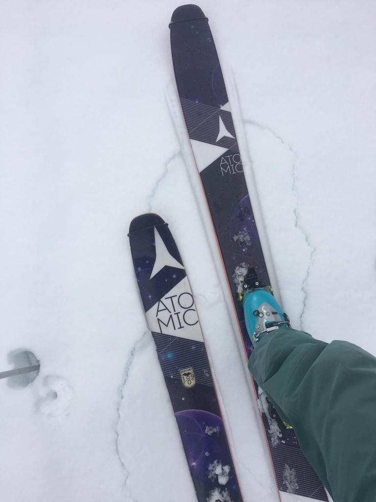 """Constant cracking while <a href=""""https://www.sierraavalanchecenter.org/avalanche-terms/skin-track"""" title=""""Backcountry skiers and some snowboarders ascend slopes using climbing skins attached to the bottom of their skis."""" class=""""lexicon-term"""">skinning</a>"""