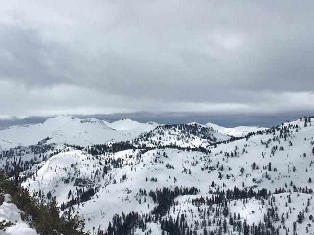 Cloud cover to the south of Rubicon Peak