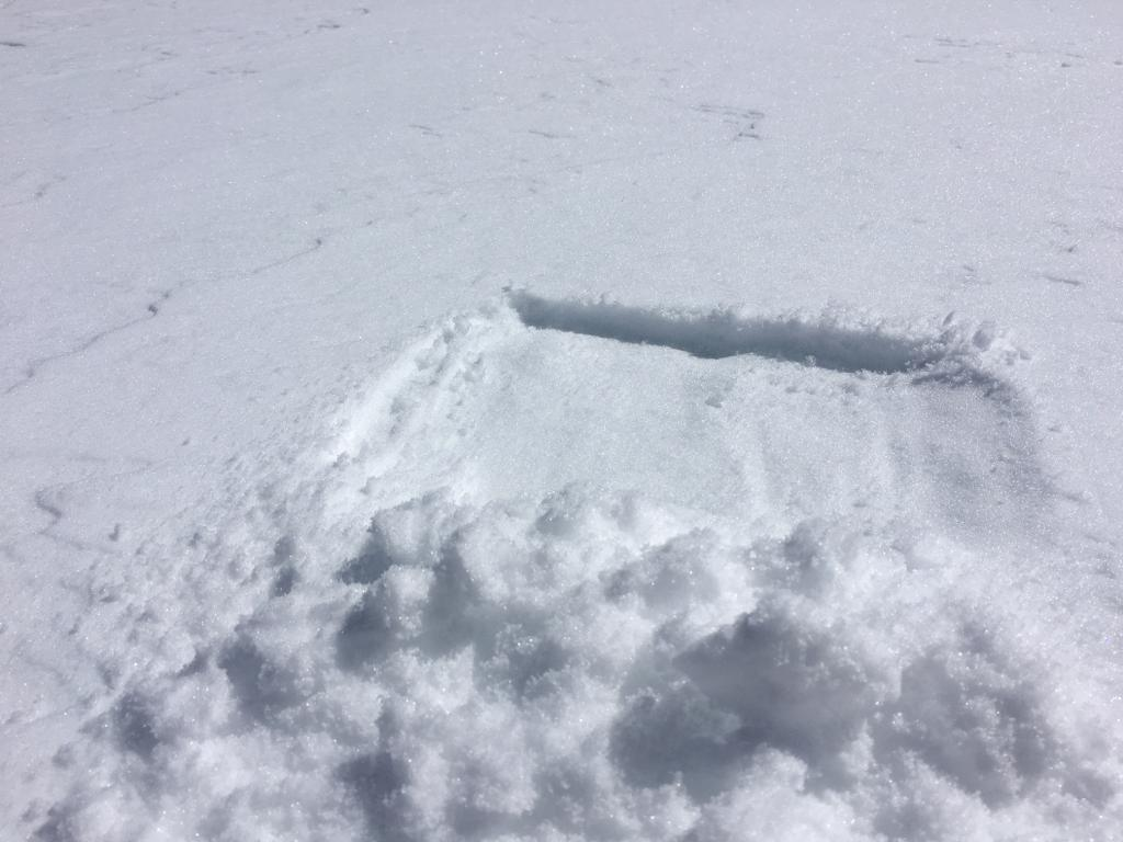 """1-2cm of new snow atop frozen <a href=""""/avalanche-terms/rain-crust"""" title=""""A clear layer of ice formed when rain falls on the snow surface then freezes."""" class=""""lexicon-term"""">rain crust</a>"""