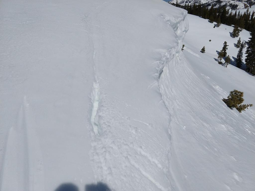 Fractures behind cornices, common in this climate.