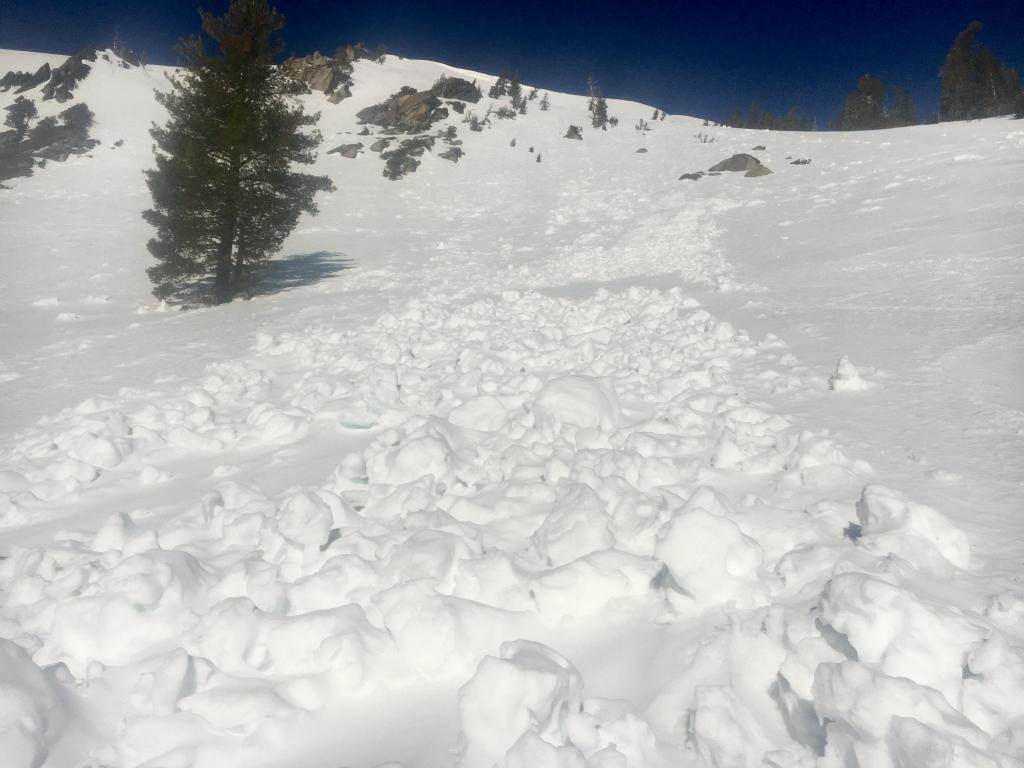 """Another previous wet <a href=""""https://www.sierraavalanchecenter.org/avalanche-terms/avalanche"""" title=""""A mass of snow sliding, tumbling, or flowing down an inclined surface."""" class=""""lexicon-term"""">slide</a>"""