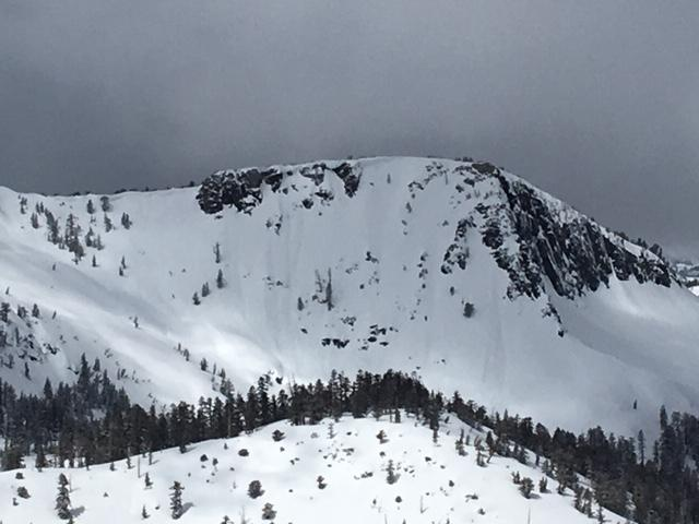 "E face of Crag Peak.  Small <a href=""https://www.sierraavalanchecenter.org/avalanche-terms/d1"" title=""Relatively harmless to people."" class=""lexicon-term"">D1</a> natural loose wet <a href=""https://www.sierraavalanchecenter.org/avalanche-terms/avalanche"" title=""A mass of snow sliding, tumbling, or flowing down an inclined surface."" class=""lexicon-term"">avalanches</a> that occurred by 11am this morning."