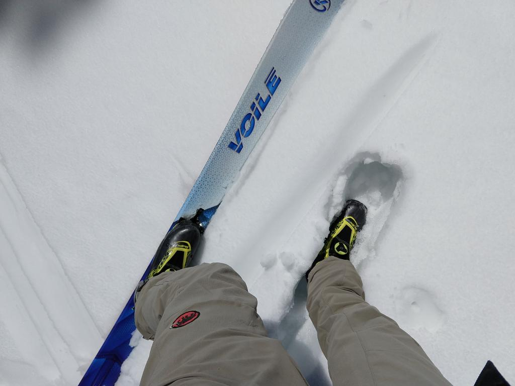 Boot top deep wet snow with a ski supportable but not boot supportable crust.
