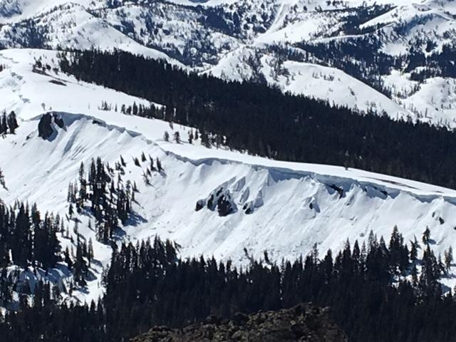 """Widespread loose wet <a href=""""https://www.sierraavalanchecenter.org/avalanche-terms/avalanche"""" title=""""A mass of snow sliding, tumbling, or flowing down an inclined surface."""" class=""""lexicon-term"""">avalanche</a> activity over the past week on steep slopes."""