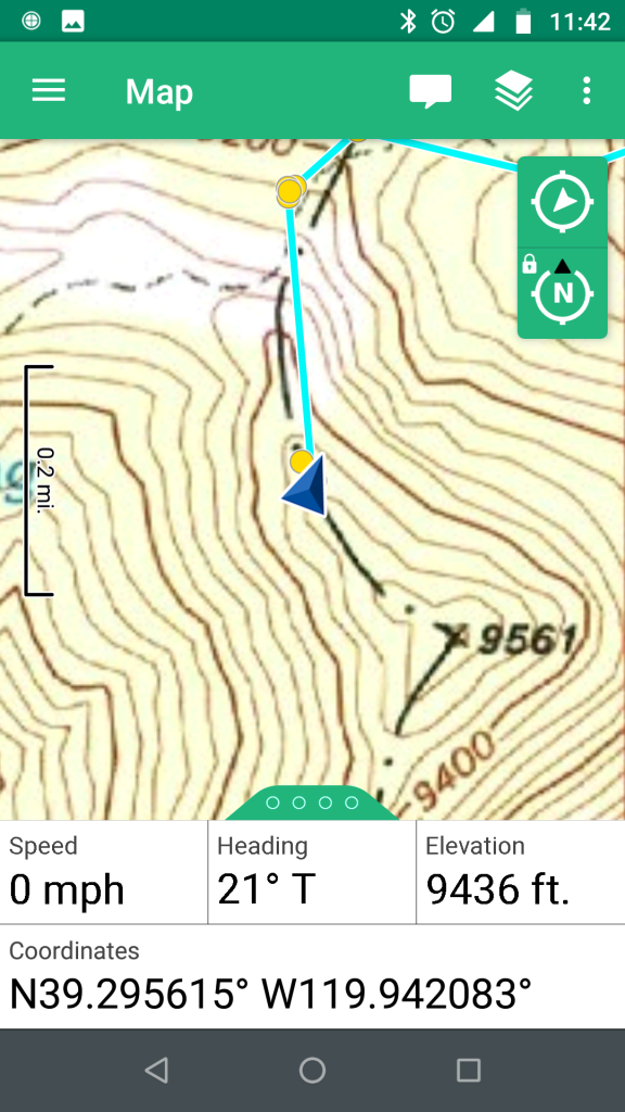 Location of buried SH.