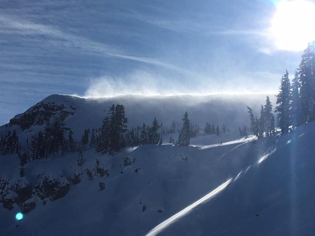 Ridgetop blowing snow at 2 pm.