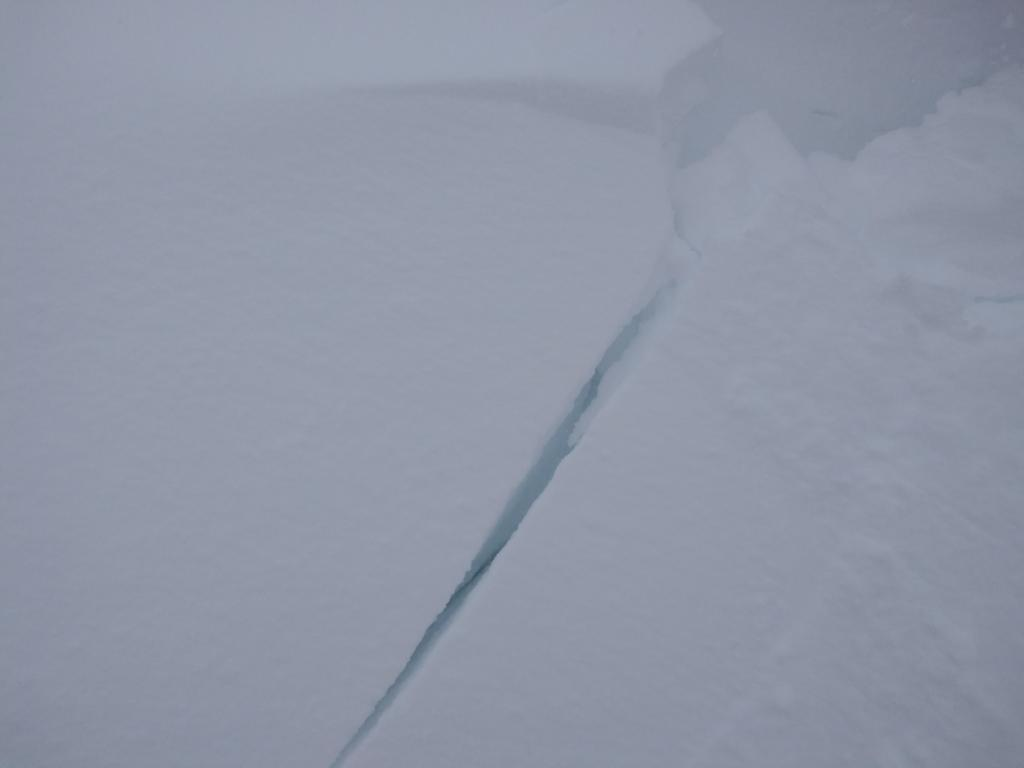 "More <a href=""/avalanche-terms/wind-slab"" title=""A cohesive layer of snow formed when wind deposits snow onto leeward terrain. Wind slabs are often smooth and rounded and sometimes sound hollow."" class=""lexicon-term"">wind slab</a> cracking at midday."