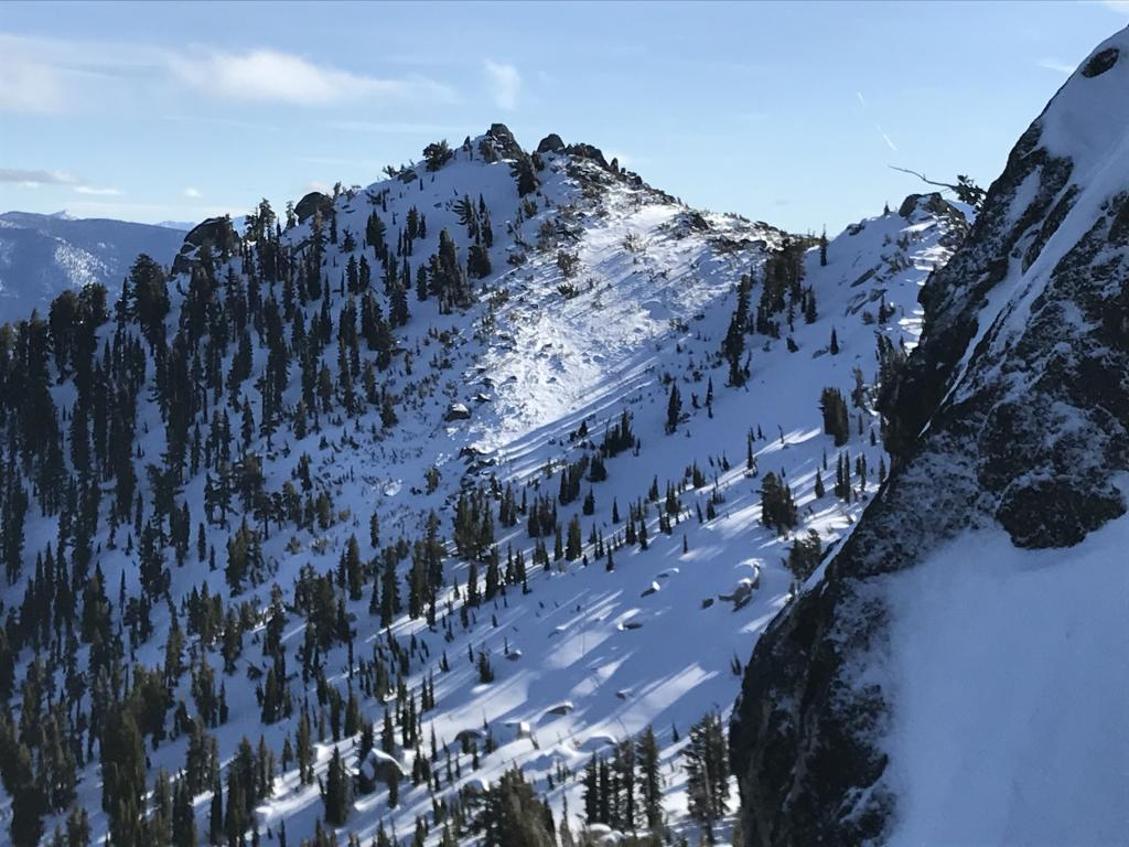 """scoured and <a href=""""/avalanche-terms/loading"""" title=""""The addition of weight on top of a snowpack, usually from precipitation, wind drifting, or a person."""" class=""""lexicon-term"""">loaded</a>"""
