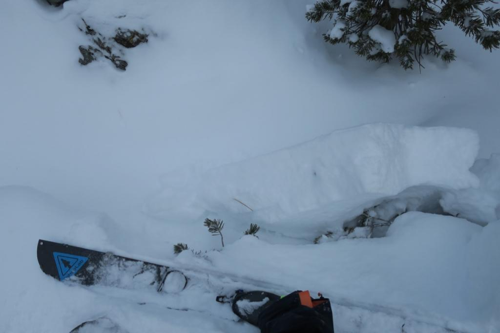 A few small test features had cohesive snow that broke with a ski kick.