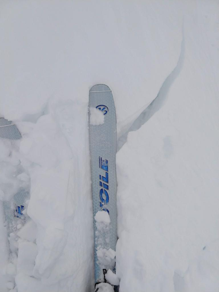 "10 to 12 in. deep <a href=""/avalanche-terms/wind-slab"" title=""A cohesive layer of snow formed when wind deposits snow onto leeward terrain. Wind slabs are often smooth and rounded and sometimes sound hollow."" class=""lexicon-term"">wind slab</a> on a <a href=""/avalanche-terms/wind-loading"" title=""The added weight of wind drifted snow."" class=""lexicon-term"">wind loaded</a> test slope."