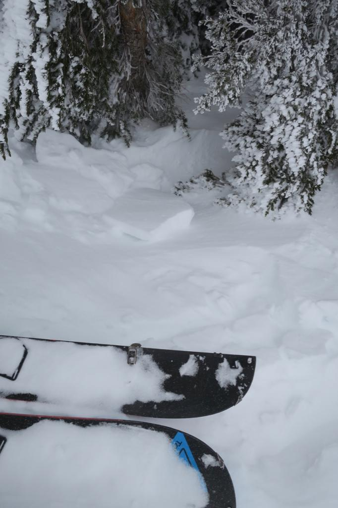 """Wind was moving snow around over ridges and creating <a href=""""/avalanche-terms/wind-slab"""" title=""""A cohesive layer of snow formed when wind deposits snow onto leeward terrain. Wind slabs are often smooth and rounded and sometimes sound hollow."""" class=""""lexicon-term"""">wind slab</a>."""