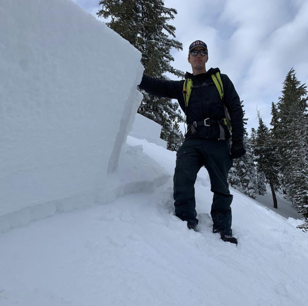 """36&quot; <a href=""""/avalanche-terms/crown-face"""" title=""""The top fracture surface of a slab avalanche. Usually smooth, clean cut, and angled 90 degrees to the bed surface."""" class=""""lexicon-term"""">crown</a>"""