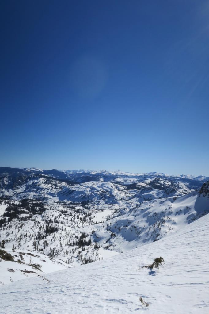 Ridge top terrain hadn't softened at noon.