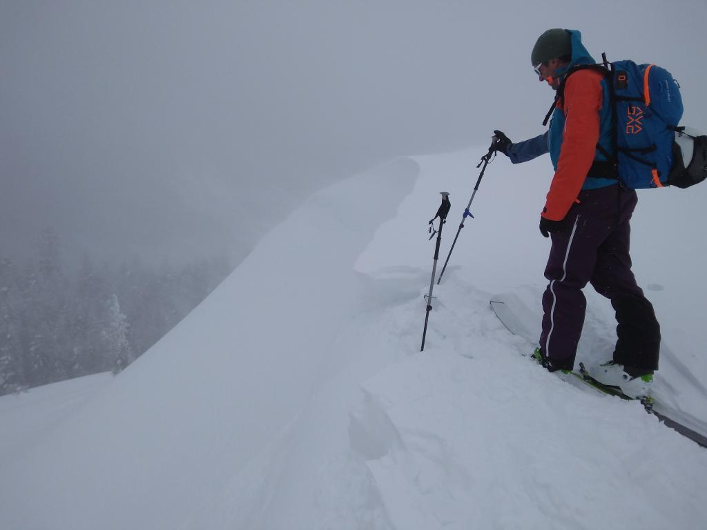 Developing and fragile new cornices.