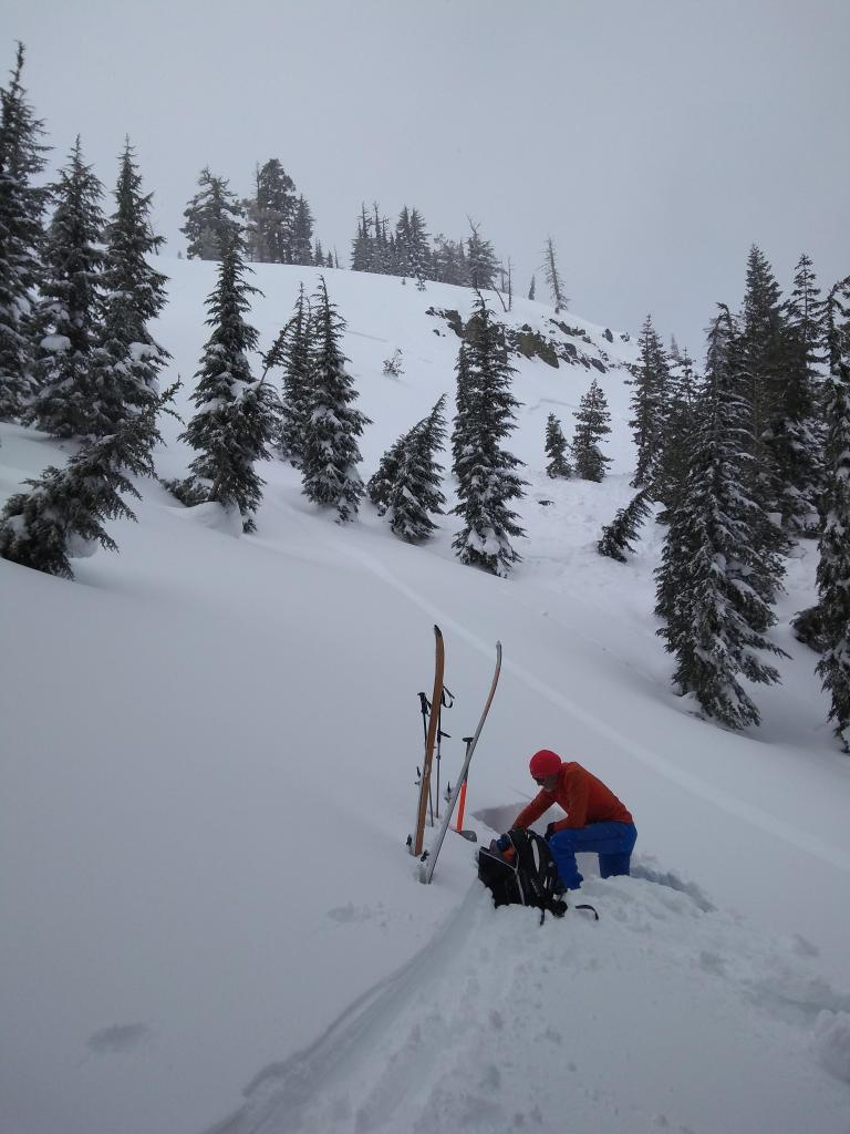"<a href=""/avalanche-terms/snowpit"" title=""A pit dug vertically into the snowpack where snow layering is observed and stability tests may be performed. Also called a snow profile."" class=""lexicon-term"">Pit</a> near 3/27 snowboard <a href=""/avalanche-terms/trigger"" title=""A disturbance that initiates fracture within the weak layer causing an avalanche. In 90 percent of avalanche accidents, the victim or someone in the victims party triggers the avalanche."" class=""lexicon-term"">triggered</a> persistent <a href=""/avalanche-terms/slab"" title=""A relatively cohesive snowpack layer."" class=""lexicon-term"">slab</a> <a href=""/avalanche-terms/avalanche"" title=""A mass of snow sliding, tumbling, or flowing down an inclined surface."" class=""lexicon-term"">avalanche</a> (NE <a href=""/avalanche-terms/aspect"" title=""The compass direction a slope faces (i.e. North, South, East, or West.)"" class=""lexicon-term"">aspect</a>, ~7,800&#039;) with ECTN results."