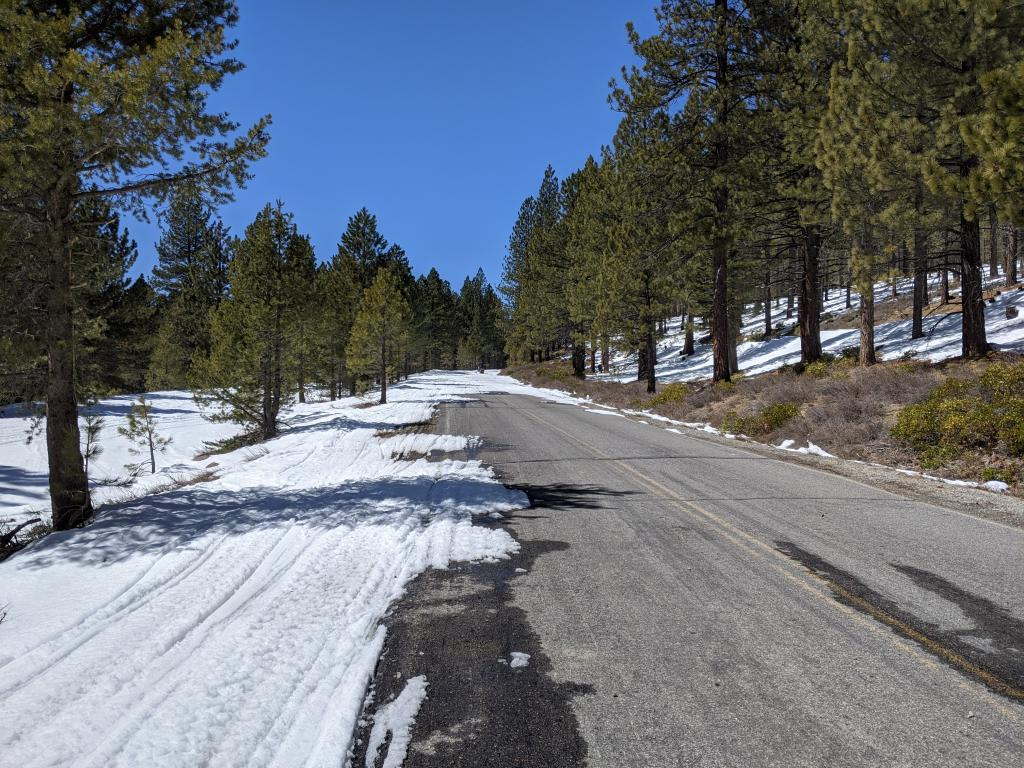One of the pavement patches in the first few miles of the Jackson Meadows Rd.