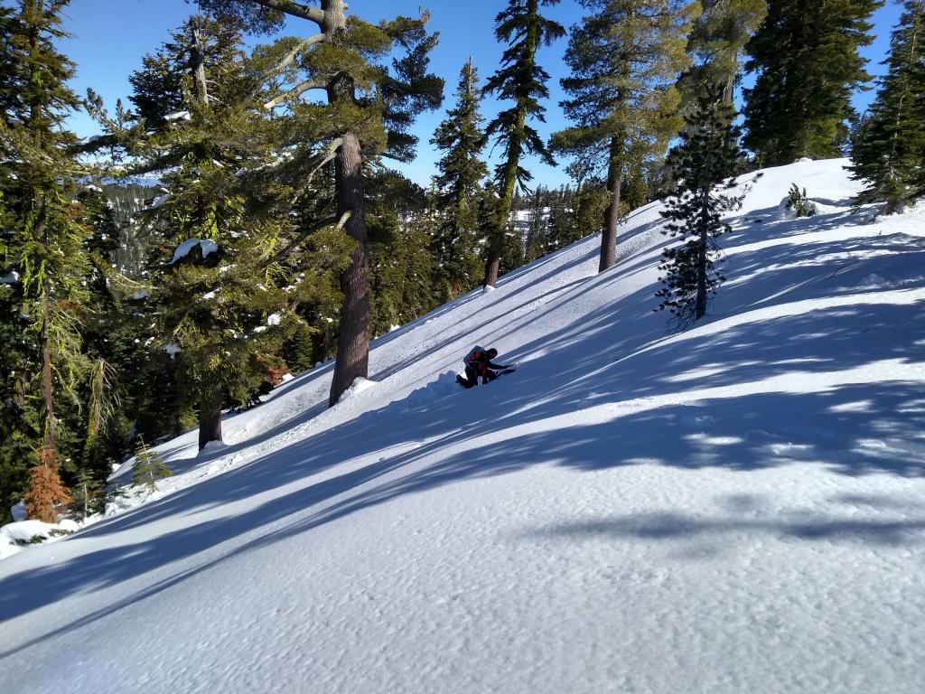 "<a href=""/avalanche-terms/snowpit"" title=""A pit dug vertically into the snowpack where snow layering is observed and stability tests may be performed. Also called a snow profile."" class=""lexicon-term"">Snowpit</a> neat Webber Lake"