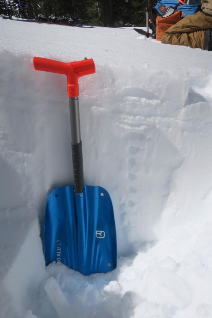 Top meter of snow.