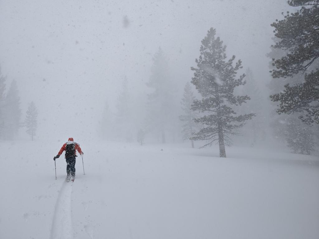 Snowfall rates at 1.5-2 inches per hour.
