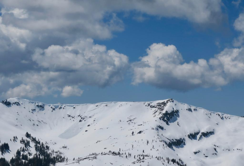 "Fresh <a href=""/avalanche-terms/avalanche"" title=""A mass of snow sliding, tumbling, or flowing down an inclined surface."" class=""lexicon-term"">avalanche</a> in the bowl between Ralston and Baldy/Peak 9155"