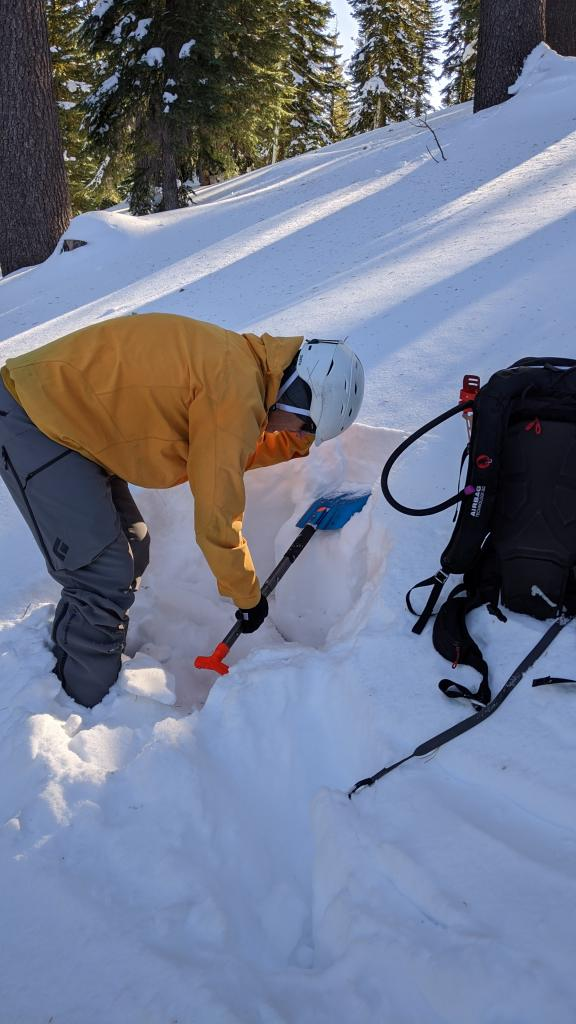 Compression test on a NE facing slope at 7800 ft. this test did not produce unstable results (CTN).