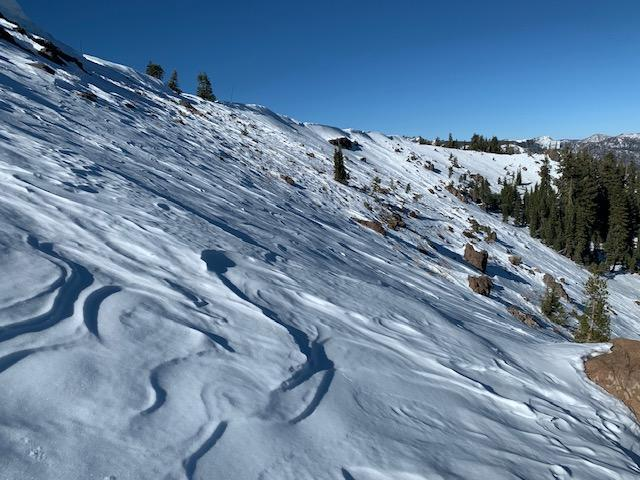 "Wind Scoured NE <a href=""/avalanche-terms/aspect"" title=""The compass direction a slope faces (i.e. North, South, East, or West.)"" class=""lexicon-term"">Aspect</a> of N Judah"