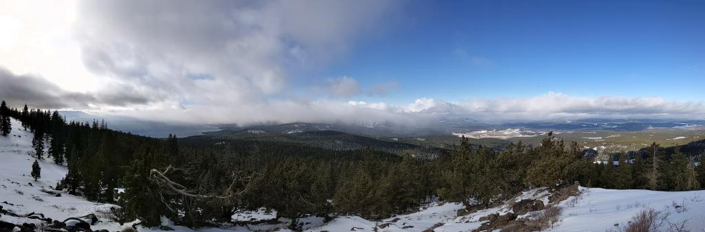 Unsettled weather along the Sierra Crest
